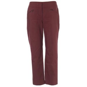 Ann Taylor maroon signature cropped pants